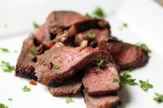 London Broil with Balsamic Marinade - amazing! Definitely marinade at least 24 hours. Served with avocado slides drizzled with lime and salt, so good! Meat Recipes, Paleo Recipes, Whole Food Recipes, Cooking Recipes, Dinner Recipes, Yummy Recipes, Meat Meals, Paleo Food, Recipes