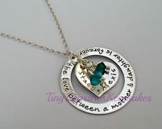 Sterling silver handstamped Mother necklace by TinyTreasuresBySC, £39.00