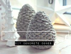 Make DIY concrete cones from mold www.diyfactory.dk