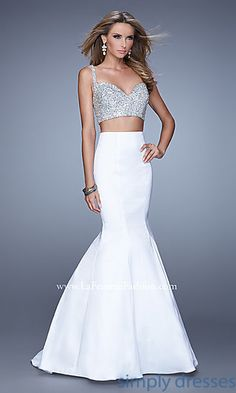 La Femme Two Piece Prom Dress at SimplyDresses.com
