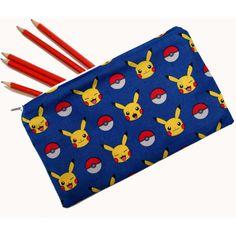 Pokemon, Pikachu Pencil Case, Make-up Bag, Coin Pouch ($7.52) via Polyvore featuring home, home decor, office accessories, zipper pencil case, zip pouch, zipper pouch, zip pencil case and zipper pencil pouch