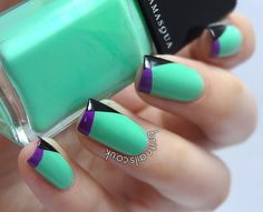 love this twist on color block/tips!  :)