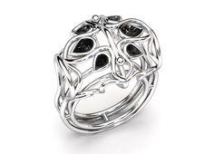 Bague ADELAÏDE Or 18k Diamants / Moissanites / Pierres fines - Taille Poire