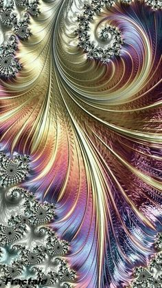 An interesting and beautiful fractal image. Fractal Design, Fractal Images, Fractal Art, Fantasy Kunst, Fantasy Art, Wow Art, Cellphone Wallpaper, Iphone Wallpaper, Art Design