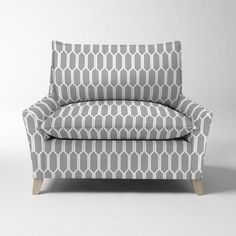 Bliss Down-Filled Chair-and-a-Half - Prints   West Elm