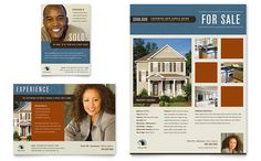 real estate agent and realtor flyer and ad design template by stocklayouts