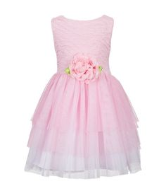 a121ce3f3f8 Sweet Heart Rose Little Girls 2T-6X Tiered Tulle Ballerina Dress