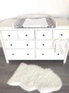 """blanc compartiment de s/éparation pour Ikea Malm commode /""""G+/"""" Plan /à langer SANS COMMODE"""
