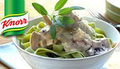 KNORR: Fettucine in a creamy mushroom and sage sauce