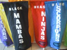 Survivor tribe banners - easy to make with PVC pipe More