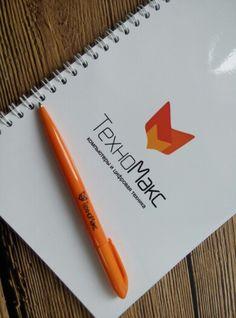 Блокноты и ручки с логотипом для #техномакс  #torzaprint #krsk #ручкислоготипом #блокнот #техномакс #брендирование #слоготипом