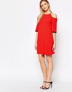 Image 4 of New Look Cold Shoulder Swing Dress