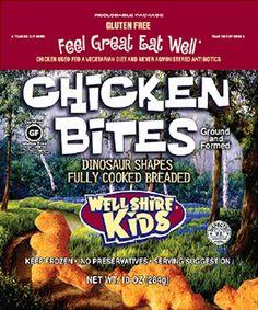 Wellshire Kids Dairy- and Gluten-Free Chicken Nuggets (Dinosaur Bites)