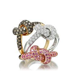 Astley Clarke Takara Love Knot Diamond Rings... Oooohh these are so pretty and cute!!