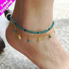 NEW BOHO FESTIVAL BEACH REAL SHELL ORCHID ANKLET ANKLE JEWELLERY  UK STOCK