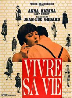 "MP597. ""Vivre Sa Vie"" French Movie Poster by Jacques Vaissier (Jean-Luc Godard 1962) / #Movieposter"