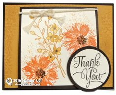 CARD: Beautiful Touches of Texture Floral Thank You | Stampin Up Demonstrator - Tami White - Stamp With Tami Crafting and Card-Making Stampin Up blog