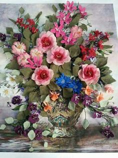 Turkish Art, Needle Lace, Beaded Flowers, Decoration, Needlework, Floral Wreath, Arts And Crafts, Ribbon, Wreaths