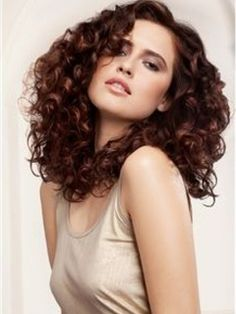 Attractive+Impressive+Fluffy+Long+Curly+Full+Lace+Wig+100%+Human+Hair+about+18+Inches