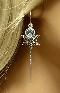 Snowflake dangle earrings (or pendant!)