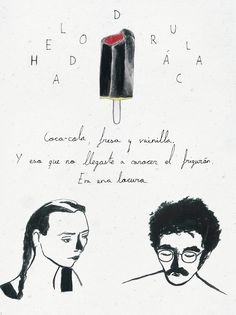 Apuntes sobre el helado Drácula. Marta Royo  #illustration #ink #icecream #faces