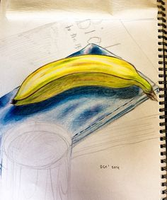 """Sketch of a banana, Oct. 2014"" by Vishwani Chauhan, pencil on paper."