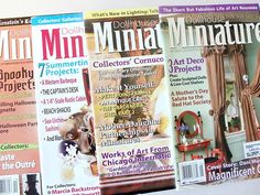 DOLLHOUSE MINIATURES magazine 2006 LOT / 4 roombox vintage victorian collectible