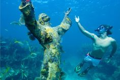 02 Museo Subacuático de Arte Mexico Slip on the snorkel and descend to this underwater museum, off the shores of Cancún. It comprises over 4...