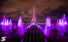 For the first time in history, the Eiffel Tower was illuminated in pink on Breast Cancer Awareness