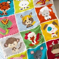 Zoodiacs Sheep C2C Crochet Graph - One Dog Woof