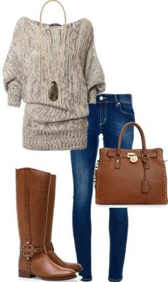 #fall #outfits / riding boots + skinny jeans