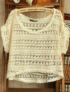 Crochet top. Over a tank, so cute! Perfect for summer!
