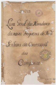 Campinas de Antigamente: OS PRIMEIROS MORADORES DE CAMPINAS