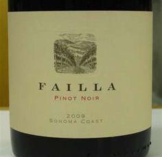 Failla Pinot Noir 2008....Great juice!