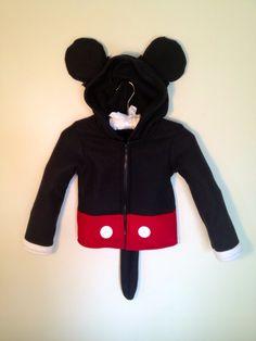 Disney Mickey Mouse inspired fleece hoodie by MagicPrincessWhitney, $110.00