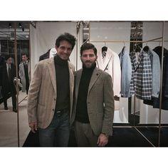 #RiccardoPozzoli Riccardo Pozzoli: Alessio from @lardiniofficial family. #pitti #pittiuomo87 #firenze #lardini #style