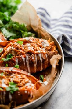 Slow Cooker Buffalo Chicken | slow cooker sweet potatoes | slow cooker dinners | slow cooker recipes | healthy slow cooker meals | whole30 slow cooker recipes | whole30 dinners | gluten-free slow cooker recipes | gluten-free dinners | dairy-free slow cooker recipes | dairy-free dinners | paleo slow cooker recipes | paleo dinners || The Real Food Dietitians #whole30dinners #healthyslowcookerrecipes #whole30 #glutenfree #dairyfree #paleo #buffalochickenrecipe #glutenfreedinner