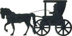 Horse Drawn Buggy Wall Shadow Project Pattern