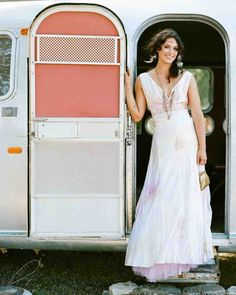 Love this tie-dyed nontraditional wedding dress.                              …