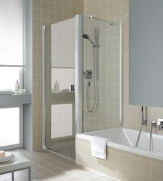 RAYA - Pendeltür 1-flügelig und Seitenwand verkürzt auf Badewanne