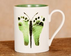 Any 2 mugs. Hand and Footprint Art made from by MyForeverPrints