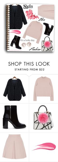 """The coat"" by yourstylemood ❤ liked on Polyvore featuring Forever 21, Les Petits Joueurs, Alexander McQueen, Hourglass Cosmetics and Chloé"