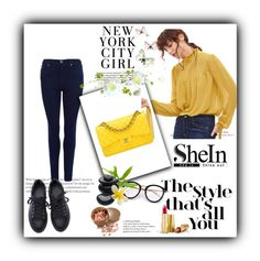 """Shein 27"" by zerina913 ❤ liked on Polyvore featuring Barbour International, Chanel, H&M, Avon and shein"