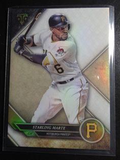 2017 Topps Triple Threads #96 Starling Marte Pittsburgh Pirates Baseball Card #PittsburghPirates