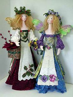 """PATTERN /""""BLOSSOM /& TWIG/"""" BY JULIE MCCULLOUGH PAPER *NEW* CLOTH ART DOLL"""