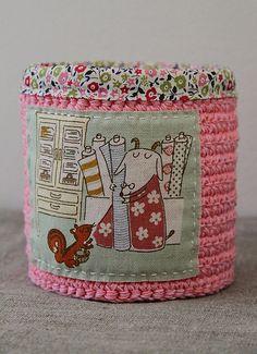 Plushka's craft: Crochet and fabric duo
