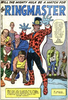 1171 best marvel classic images on pinterest book covers comics the incredible hulk ringmaster first appearance fandeluxe Choice Image