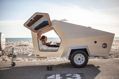 Polydrop Teardrop Camper Trailer: Lightweight Caravan any Car Can Tow: Micro-Camper Small Camper Trailers, Small Trailer, Small Campers, Campers For Sale, Trailers For Sale, Rv Campers, Travel Trailers, Airstream Trailers, Rv Trailer