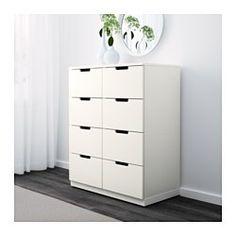 IKEA - NORDLI, Cómoda de 8 cajones, blanco, , Para que tu casa sea un lugar seguro para toda la familia, incluye un herraje de seguridad por si quieres fijar la cajonera a la pared.Puedes usar una cómoda modular o combinar varias para crear la solución perfecta para tus necesidades.Crea un diseño personalizado mezclando cómodas de distintos colores.Gracias al amortiguador, el cajón se cierra despacio, suave y silenciosamente.Gracias a las guías ocultas, los cajones se abren y cierran…