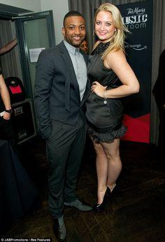 Date night: JLS' Jonathan 'JB' Gill wore matching black as he took his girlfriend Chloe Tangney to the bash